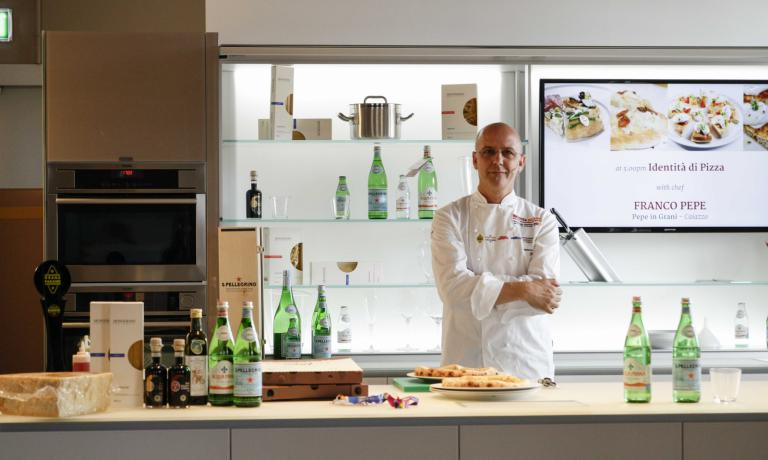 Franco Pepe ieri a Identit� Expo. Lui � uno dei re della pizza, con�Pepe in Grani, aperto nell'ottobre 2012 nella sua Caiazzo, provincia di Caserta (tel. +39.0823.862718)