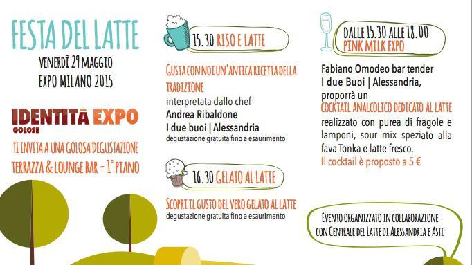 Domani a Expo è il giorno della Festa del Latte,