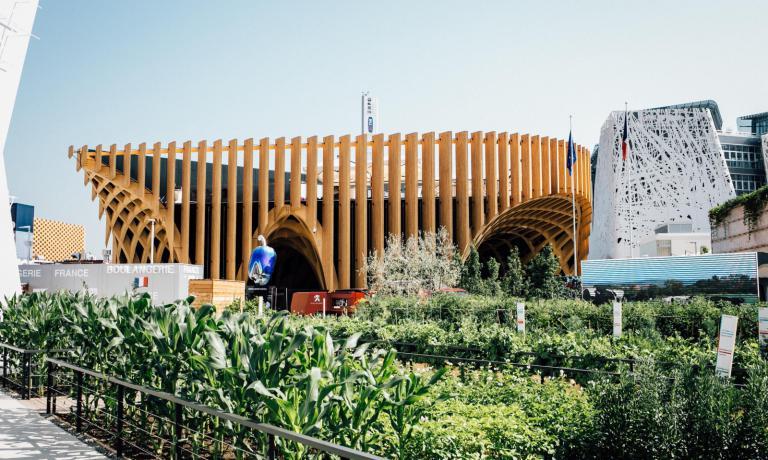 Il padiglione francese a Expo 2015. Presenta all'u