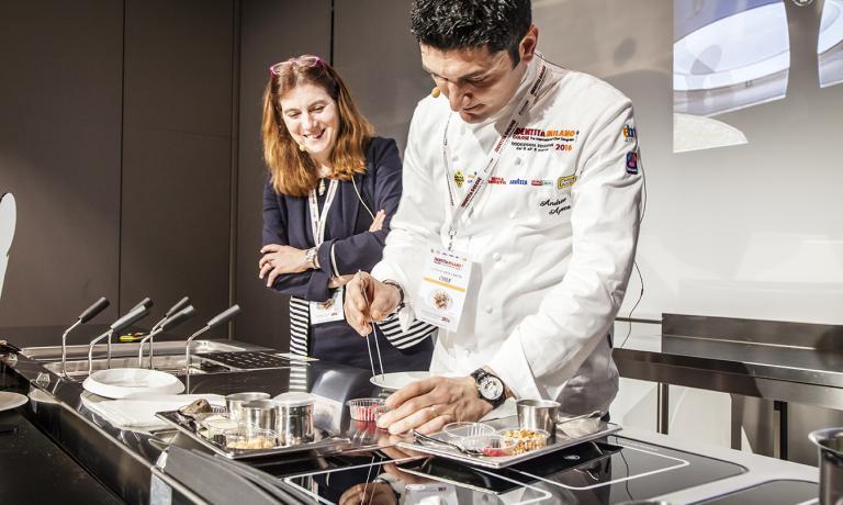 Andrea Aprea e la nutrizionista Maria Letizia Petr