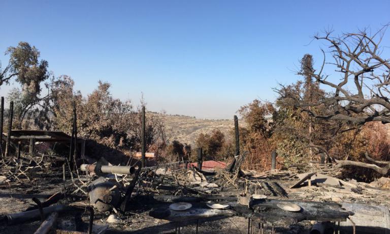 Un incendio - si sospetta doloso, il premier israe