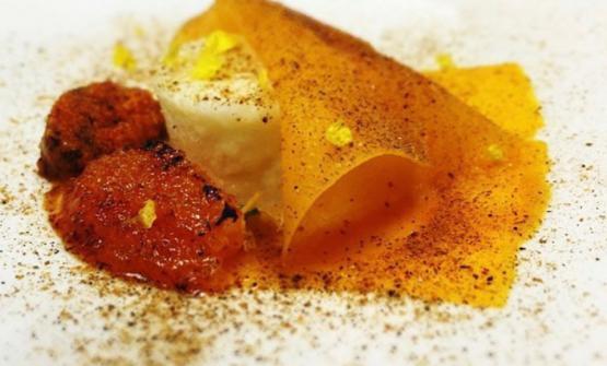 Zucca, mandarino e ricci di Simone Tondo