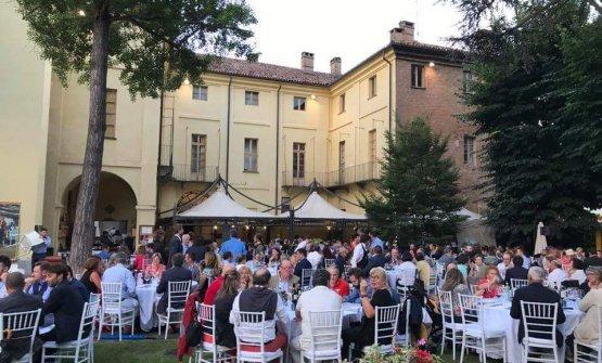 La cena di gala per celebrare un anno dalla Docg delNizza aPalazzo Crova, Nizza Monferrato (Asti), l'1 luglio scorso