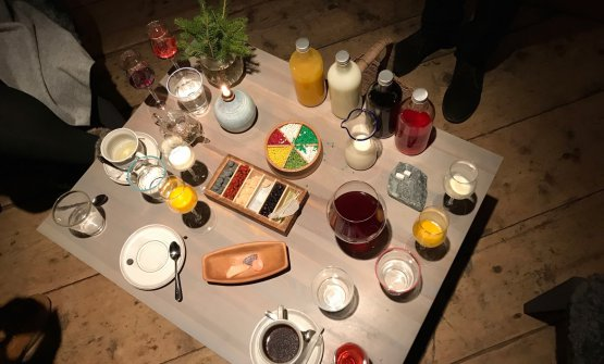 Petit fours and homemade spirits. The final act of