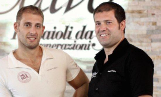Francesco e Salvatore Salvo della pizzeria Salvo d