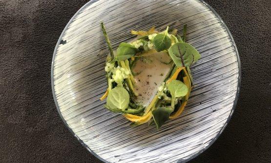 Verde Pasticciato, uno dei piatti in carta al ristoranteBenso, inpiazza Cavour aForlì, telefono+39.346.1167238