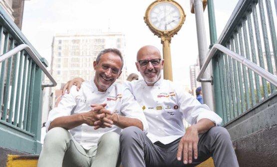 Lello Ravagnan e Franco Pepe in uno scatto nei pre