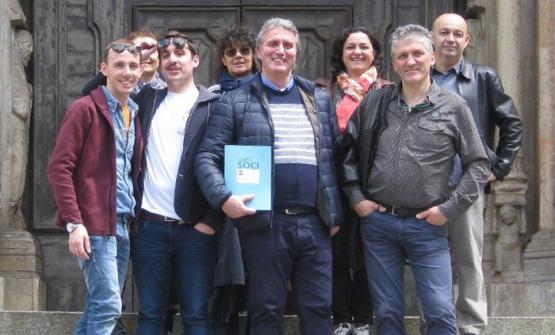 Foto di gruppo dei fondatori delle Premiate Tratto