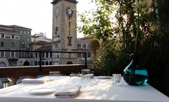 Uno scorcio della Terrazza Fausti a Bergamo, sede