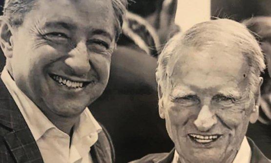 Marino Giannoni, a destra, colgrande Joan Roca.