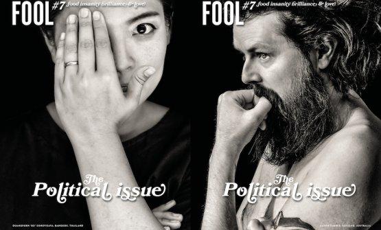 Lecopertinedi Fool magazine #7, pubblicato in doppia versione: la copertina conBoSongvisava di Bo.lan a Bangkok e quella conAaron Turner di Igni,Australia. Pubblicato in Svezia, scritto in lingua inglese, si ordina online a 23,59 euro (tiratura limitata a 3.000 copie)