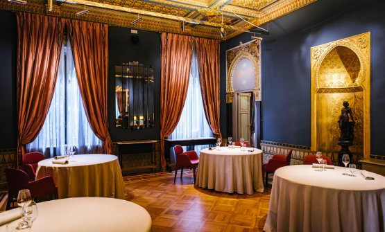 La sala di VIlla Crespi (Novara)