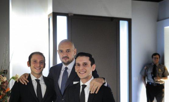 Con i gemelli Andrea e Luca Garelli