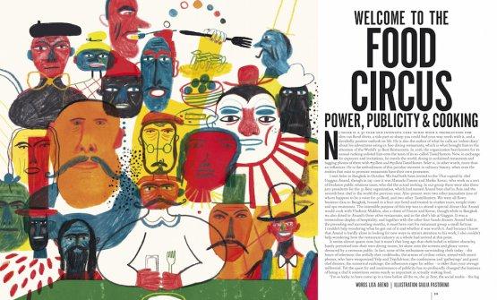 L'inizio del dossier di Lisa Abend, con l'illustrazione di Giulia Pastorino