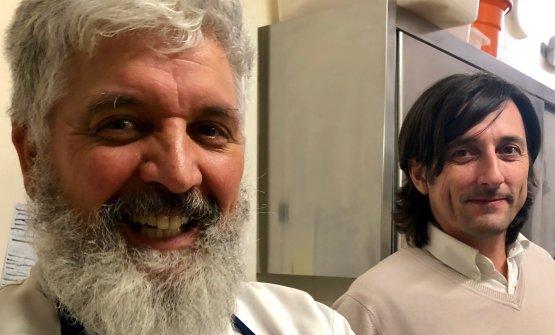 Lo chef Antonio Ietto e il patronLuca Defilippi