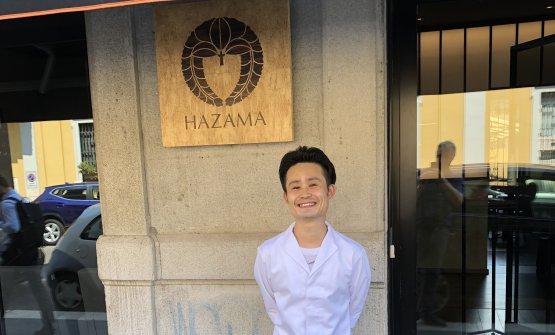 Satoshi Hazama, 35 anni, di Gunma (Giappone). Nel suo curriulum italiano, spiccano i due anni all'Enoteca Pinchiorri di Firenze