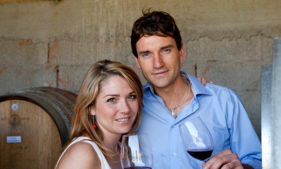 Con il maritoLorenzo Zonin, diPodere San Cristoforo, in Maremma