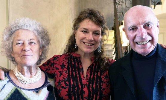 La famiglia di Frecciarossa: Margherita Odero, Valeria Radici Odero e Carillo Radici