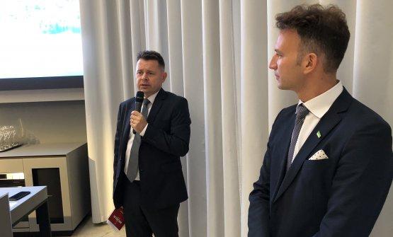 Il console slovenoBoris Antolic e il direttore dell'Ente del turismoAljosa Ota
