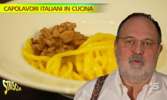 Paolo Marchi, inviato di Striscia, e lo Spaghetto Milano