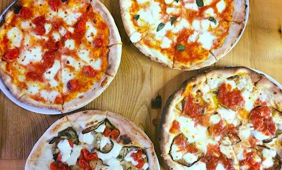 Alcune delle pizze del Sa Scolla
