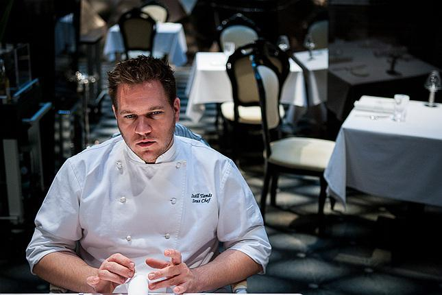 Tamás Széll, born in 1982, souc-chef at Onyx, which got the first Michelin star in 2010 (photo www.budapesttelegraph.com)
