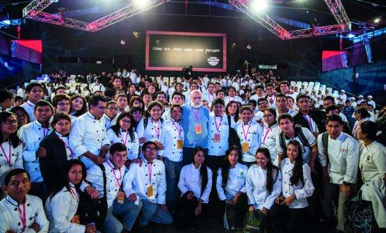 Petrini in Perù nel2015