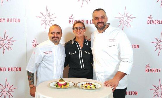 Gli chefGiambattista Vinzoni e Alberico Nunziata con la nostra Francesca Zanetti