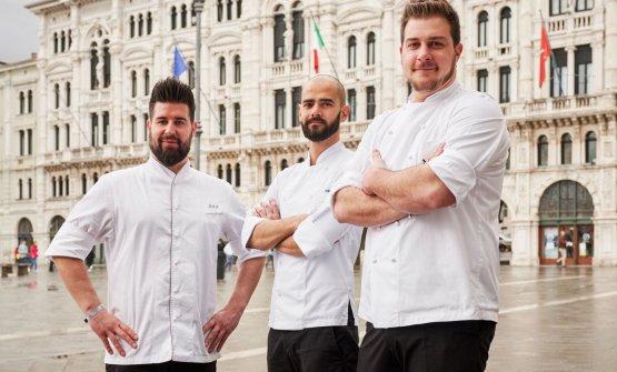 Da sinistra: Davide De Pra, Alessandro Buffa, Matteo Metullio