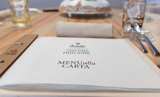 Il menu alla carta (che forse Ruta deciderà presto di togliere...)