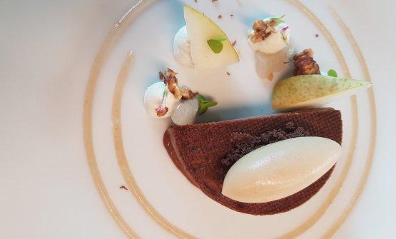 Marquise di cioccolato e pera