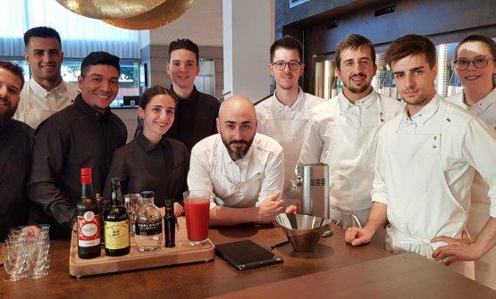 The staff of ristoranteAürt, inside theHilton