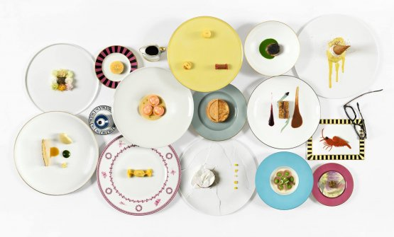 The dishes from the new menu at Osteria Francescan