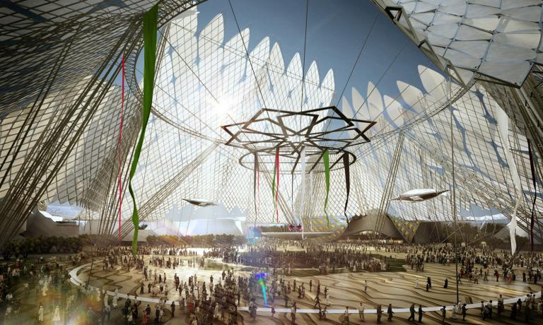 Il rendering di Expo Dubai 2020