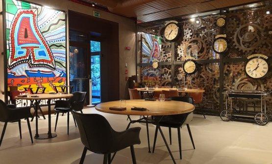 La sala del ristorante Condividere by Lavazza, dis