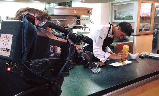 Il giovane chefDani Muñozal lavoro