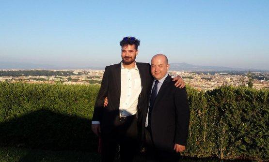 Con Luciano Monosilio