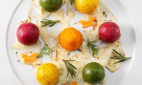 Alcuni dei piatti di Leemann più celebri. Questo è Serendipity. FotoGiovanni Panarotto
