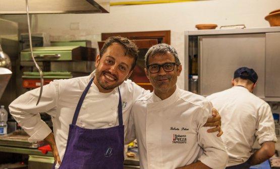 Alessandro Negrini e Roberto Petza, protagonisti del penultimo appuntamento con Stelle in Marmilla, compresa una cena a quattro mani al S'Apposentu