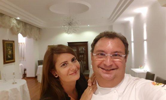 Gramaglia con la moglie Laila