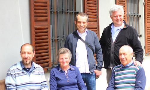 On the left, Sergio Massaglia, breeder of Fassone