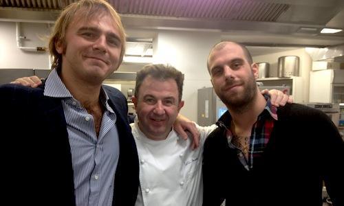 Beniamino Nespor (left) and Eugenio Roncoroni from
