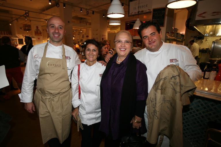 Niko Romito, Cristina Bowerman e Gennaro Esposito con Lidia Bastianich
