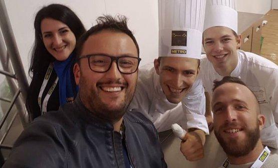 Stephan Vaccaro con due suoi colleghi e amici da i tempi del Piccolo Lago, Paolo Griffa e Mattia Rancati