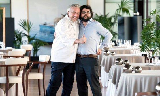 Davide Scabin con Iaccarino