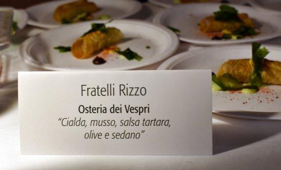 La proposta dell'Osteria dei Vespri per la cena a Palazzo Marchetti