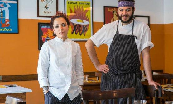Sarah Cicolini e Mattia Bazzurri, l'anima della cucina di SantoPalato