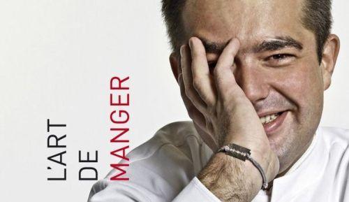 Un particolare della copertina del libro di�Jean-Fran�ois Pi�ge, L'art de manger, edizioni Autrement, uscito nel maggio 2013 e acquistabile�qui. Al timone di Thomieux, brasserie al piano terra e ristorante gourmet al primo piano, JFP, 43 anni, � uno dei grandi cuochi di Francia