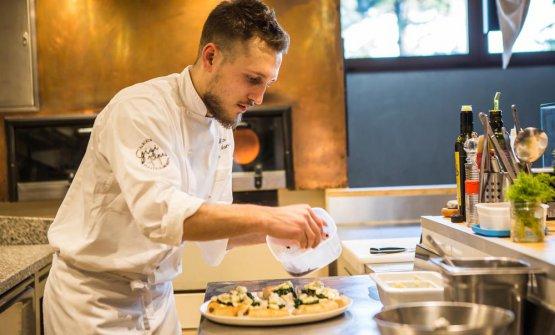 Il giovane pizzaiolo Alberto Morello, di Gigi Pipa, pizzeria con l'orto di Este (Padova)