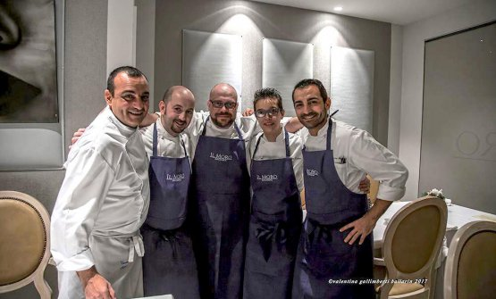 Alcuni dei protagonisti della serata: da sinistra Vincenzo Butticè, Luca Mauri, Andrea Alfieri, Roberta Zulian e Salvatore Butticè(foto Valentina Galimberti Ballarin)